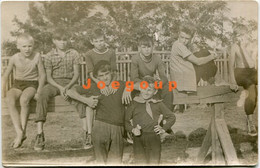 Old Photo Boys Teenagers Friends In Countryside - Anonymous Persons