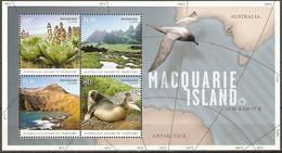 Australian Antarctic Territory AAT 2010 MiNr. 183 - 186 (Block 5) Plants Subantarctic Fur Seal BIRDS 1 S\s MNH** 7,50 € - Vulkanen