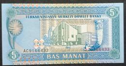 HM0325 - Turkmenistan 1993 5 Manat Banknote UNC P-2 - Turkmenistan