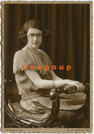 Photo Postcard F. Bixio & Cia. Portrait Sit Woman Girl With Glasses Buenos Aires Argentina - Anonymous Persons