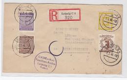 """SBZ R-Brief Mit MIF Vom """"Gadeschen-Familien Archiv Leipzig Nach Schwarzenberg +AKs - Soviet Zone"""