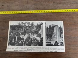 Années 20 PATI Prince Léopold Inauguration Mémorial à Saint Gilles Uccle Callevoet - Collections
