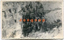 Photo Postcard Military Soldiers Polish Army In Middle East Ruins - War, Military