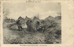 La Guerre De 1914 1915 MANDRES Aux QUATRE TOURS Tranchée Abri 2 RV Tresor Et Postes 120 - Other Municipalities