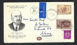 ISRAEL 1949: LSC Pour La Suisse - Brieven En Documenten