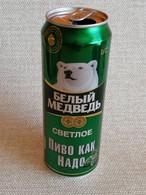 "KAZAKHSTAN...BEER CAN..450ml. "" WHITE BEAR"" LIGHT - Cans"