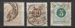 Suède      N°16 Et  23  Oblitérés      B /TB Voir Scans  Le 18 Offert   Soldé Le Moins Cher Du Site  ! ! ! - Used Stamps