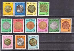 Maroc, Morocco  746/749, 756/758, 769/774 Anciennes Monnaies Marocaines 1976 Neuf ** TB MNH - Maroc (1956-...)