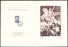 669 - 4F Bleu Libération - Epreuve De Luxe Numérotée - Signé P. GANDON - Cachet PJ Oblitération Spéciale - Des Rousseurs - Covers & Documents