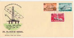 SEYCHELLES 1982 SHIPS  DEVELOPMENT OF ISLANDS  (INSCR ZIL ELOIGNE SESEL) FDC - Seychelles (1976-...)