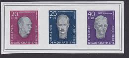 Buchenwald Einweihung Marken Als Zdr. Aus Dem Block 15 Postfrisch DDR 606/08B Ernst Thälmann Rudolf Breitscheid - Blocchi
