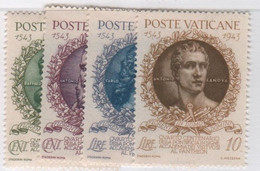 1944 Vaticano Virtuosi Serie Cpl MNH - Unused Stamps