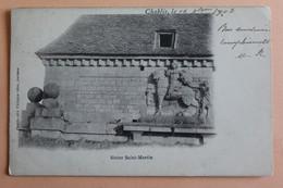 Chablis Statue Saint Martin 1903 Dos Non Divise - Chablis
