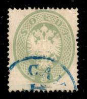 ANTICHI STATI ITALIANI - Lombardo Veneto - Levante Austriaco - Cav(alla) In Azzurro (pti 13) - 3 Soldi (37L) Usato - Mol - Unclassified