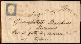 ANTICHI STATI ITALIANI - Modena - Pievepelago (oleoso - P.ti 9) - 20 Cent (15D - Sardegna) Su Lettera Per Cecina Del 26. - Unclassified