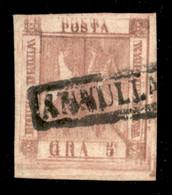 ANTICHI STATI ITALIANI - Napoli - 1858 - Doppia Stampa - 5 Grana (8) Usato - Non Catalogato - Cert. AG - Unclassified