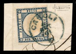 ANTICHI STATI ITALIANI - Province Napoletane - Casoli (azzurro) - 2 Grana (20) Usato Su Frammento Il 4.9.61 - Non Catalo - Unclassified