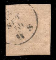 ANTICHI STATI ITALIANI - Sardegna - 1853 - 40 Cent (6) Usato - Cert. Caffaz (1.600) - Unclassified