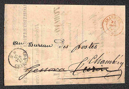 ANTICHI STATI ITALIANI - Sardegna - Administration Des Postes Royales Sardes - Reclamation De Lettres Chargees - Lettera - Unclassified