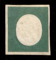 ANTICHI STATI ITALIANI - Sardegna - 1854 - Non Emesso - 5 Cent Verde Oliva Scuro (10) - Gomma Originale - Diena + Cert A - Unclassified