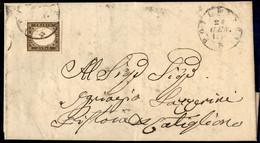 ANTICHI STATI ITALIANI - Sardegna - 10 Cent (14Be - Bruno Grigio) - Lettera Da Follonica A Castiglione Del 21.1.61 - Cer - Unclassified