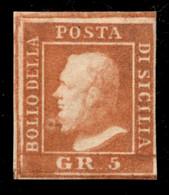 ANTICHI STATI ITALIANI - Sicilia - 1859 - 5 Grana (11 - Pos.1) - Gomma Originale - Diena + Cert. Colla (1.250) - Unclassified
