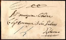 ANTICHI STATI ITALIANI - Sicilia - Siculiana (P.ti 13) - Lettera Per Palermo Del 15.7.60 - Tassata - Unclassified