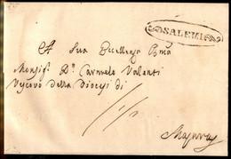 ANTICHI STATI ITALIANI - Sicilia - Salemi (P.ti R2) - Lettera Per Ragusa Del 8.6.61 - Tassata - Unclassified