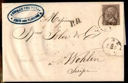 ANTICHI STATI ITALIANI - Toscana - Sesto (P.ti 6) - 30 Cent De La Rue (L19 - Regno) Su Lettera Per Wohlen Del 15.10.65 - Unclassified