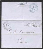 ANTICHI STATI ITALIANI - Toscana - Str. Ferr. Leopolda + Strada Ferrata Lucca Pisa (al Retro) - Due Lettere Da Livorno A - Unclassified