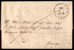 ANTICHI STATI ITALIANI - Toscana - Filigare (P.ti R1) - Lettera Per Firenze Del 14.5.58 - Alfani - Unclassified