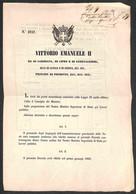 ANTICHI STATI ITALIANI - Toscana - 1859 (20 Novembre) - Decreti 3757 + 3758 - Stipendi Del Personale Delle Poste (dal 1° - Unclassified