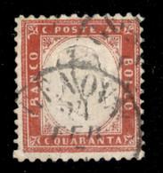 REGNO - Vittorio Emanuele II - 1862 - 40 Cent Rosso Carminio (3) - Usato - Unclassified