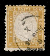 REGNO - Vittorio Emanuele II - 80 Cent Giallo Arancio (4) Usato A Firenze 6.5.63 - Cert Diena - Unclassified