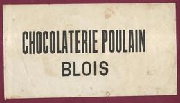 020421 - ETIQUETTE EMBALLAGE CHOCOLAT POULAIN BLOIS - Unclassified