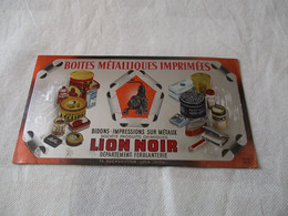 BUVARD BOITES METALLIQUES IMPRIMEES LION NOIR - Otros