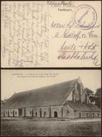 """Bataillon Allemand - Feldpostkarte (Lisseweghe 1916) + Briefstempel """"Kaiserliche Marine / Matrosenartillerie - Abteilung - Esercito Tedesco"""
