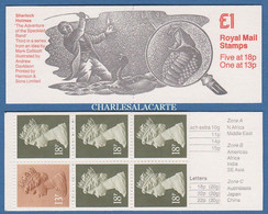 GREAT BRITAIN 1987 FOLDED £1 BOOKLET SHERLOCK HOLMES SPECKLED BAND COVER  CARNET SG FH 10 - Carnets