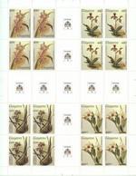 Guyana, 1987, Orchids, MNH Full Gutter Sheet, Michel 1906-1909 - Guiana (1966-...)