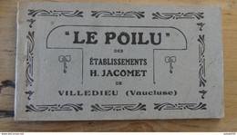 Carnet 12 CARTES LE POILU : Monuments Des établissements Jacomet A VILLEDIEU  ................ LF-724 - Guerre 1914-18