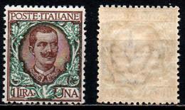 ITALIA REGNO - 1901 - EFFIGIE DEL RE VITTORIO EMANUELE III - VALORE DA 1 LIRA - MNH - Nuevos