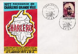 Enveloppe 1827 Charleroi Naissance D'une Grande Ville - Brieven En Documenten