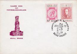 Enveloppe 1628 1629 Vlaamse Bond Van Postzegelverzamelaars Brugge Jachtfeesten St.-Andries - Brieven En Documenten