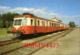 CPM - RETIERS - Autorail X 2422 Ligne De Rennes à Nantes 4 Juillet 1986 - N° 25 - Cliché Alain LESAUX - Pub. AL 53 LAVAL - Stations With Trains
