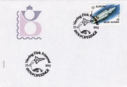 Enveloppe 2407 Espace Astronaute Viering Dirk Frimout Poperinge - Storia Postale