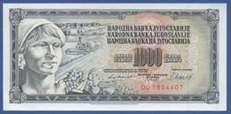 YUGOSLAVIA - P.92d– 1.000 Dinara 1981 - UNC   Prefix DO - Jugoslavia