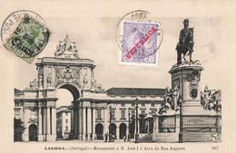 China Chine 1911 Cachet Tientsin Sur Carte Postale Portugal + Timbre N°168 Affranchissement Mixte - Bureau: Chine
