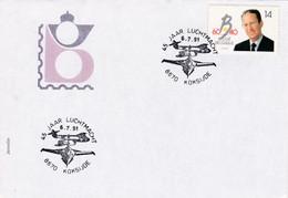 Enveloppe 2415 Force Aérienne Aviation F16 45 Jaar Lucthmacht Koksijde - Storia Postale
