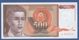 YUGOSLAVIA - P.109 – 500 Dinara 1991 - UNC   Prefix AE - Jugoslavia
