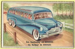 2413 - BELGIE - BRUGGE - TEKENING - CARTOON - MET 10 MINI ZICHTEN - Brugge